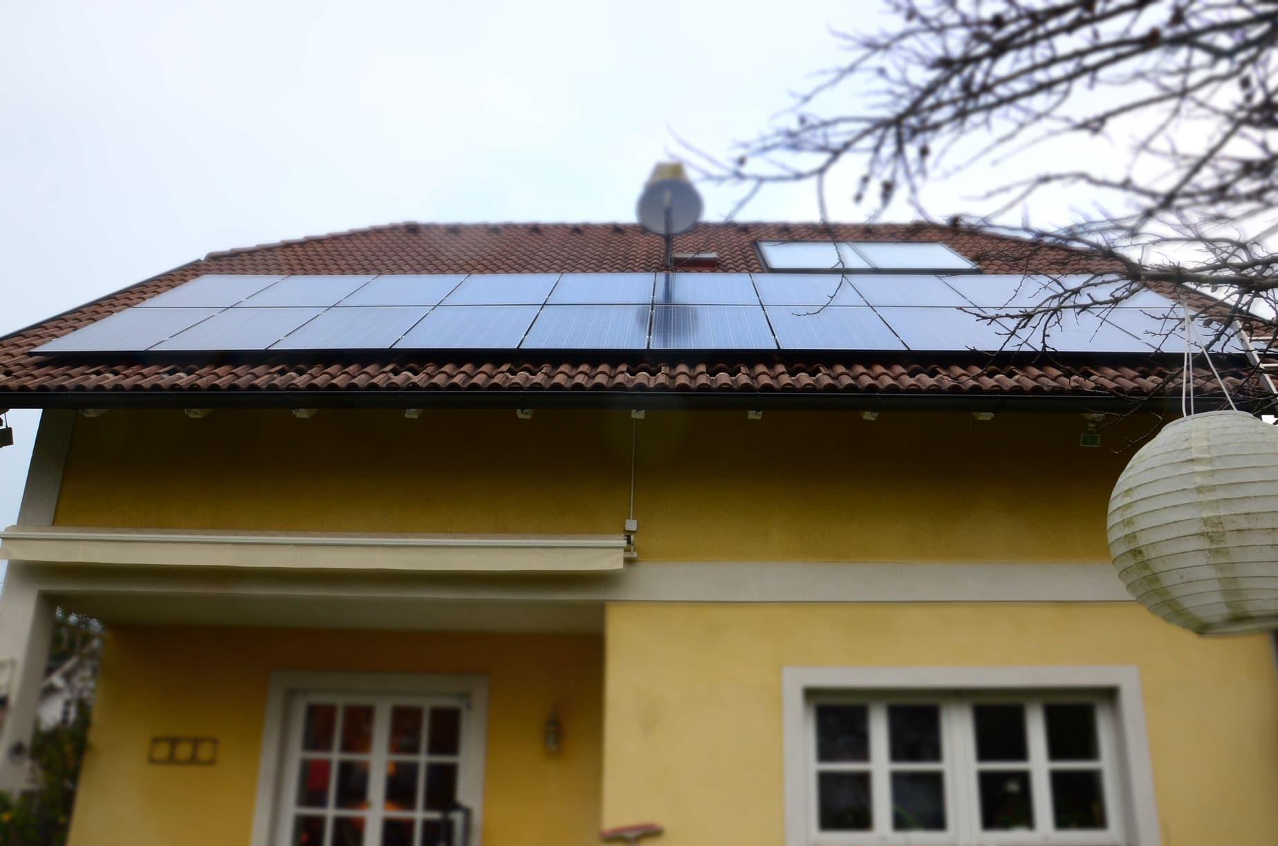 Schrägdach Referenz Photovoltaik