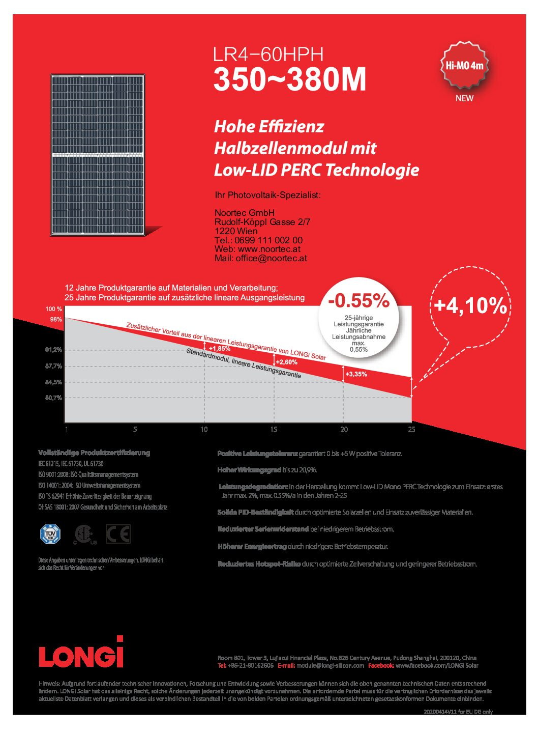 photovoltaik modul datenblatt longi lr4 60hph 350 380m pdf