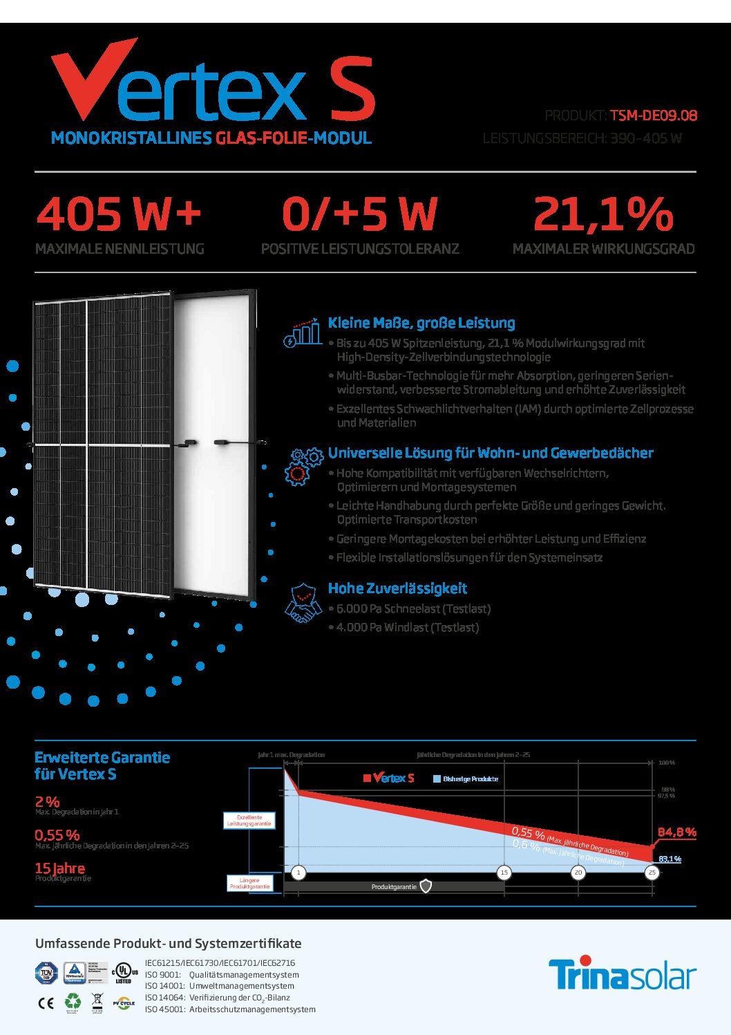 photovoltaik modul trina datanblatt vertexs pdf